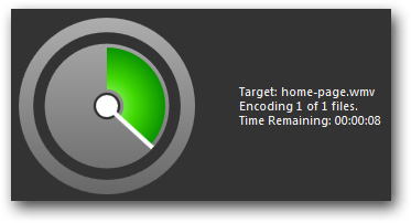 Microsoft Expression Encoder time remaining