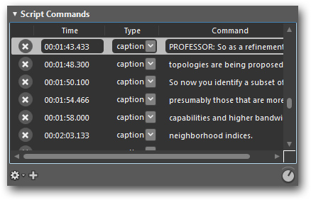 Microsoft Expression Encoder Script Commands edit caption file