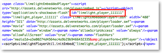 Limelight Embed Code