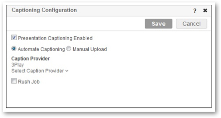 Mediasite 6.0 Captioning Configuration